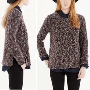 Madewell Firelight Side Split Pullover Cable Knit